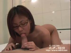 Cute glasses girl blowjob and sex H4610 free JAV porn video in uncensored