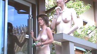 Bath voyeur of beautiful tits and big tits girls Free JAV voyeur video of Punyo in the public bath