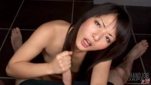 Gentle handjob by Kozue Maki, Free JAV erotic movie of Handjob Japan
