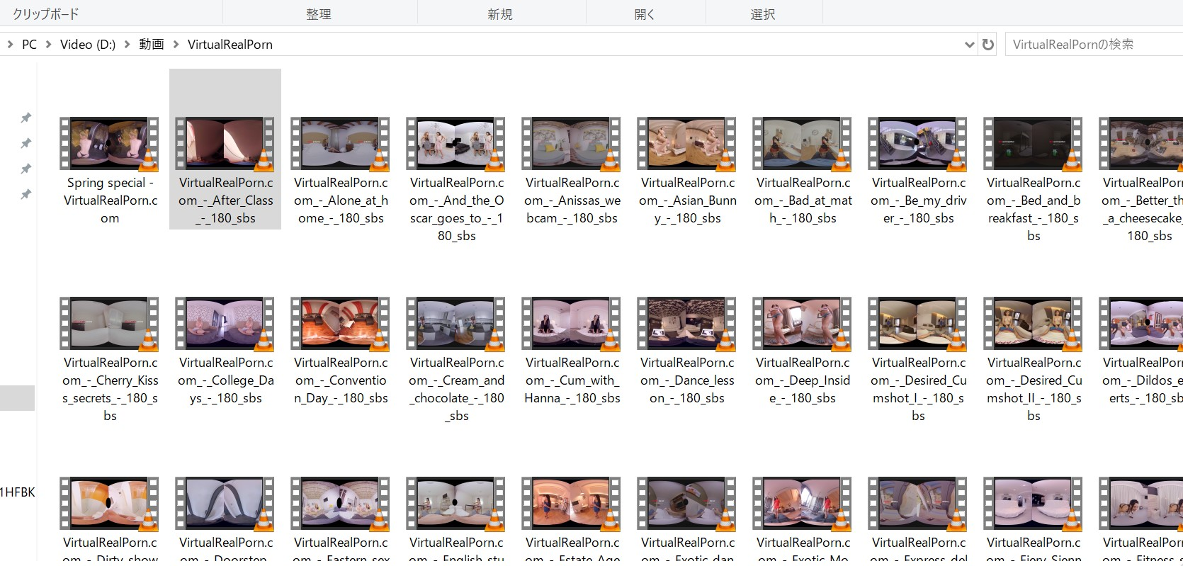 some of the uncensored VR erotic videos I downloaded and obtained