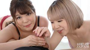 相田みくと早川夏美が優しい手コキ愛撫しちゃうぞ Handjob Japanの無修正動画