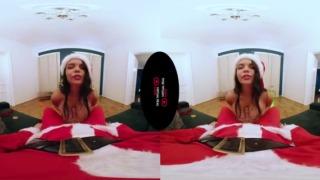 巨乳サンタ娘とバーチャルセックス、バーチャルリアルポルノの無修正VR動画