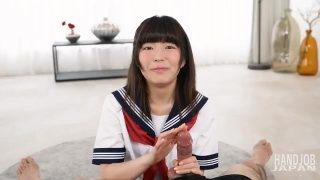 涼宮あいかの手コキ!Handjob Japanの無修正エロ動画